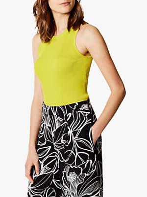 Karen Millen Knit Tank Top, Lime