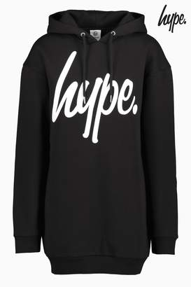 Next Womens Hype. Black Long Line Hoody
