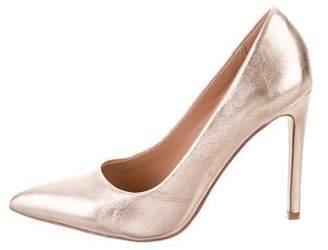 Halston Metallic Pointed-Toe Stilettos