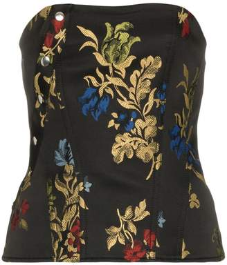Marques Almeida Marques'almeida floral embroidered corset top