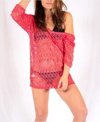 Lunada Double Knit Jacquard Lace Coverup Women Swimsuit