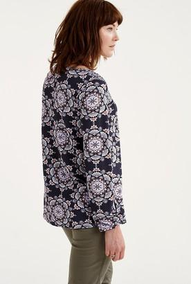 Long Tall Sally Floral Ceramic Print Smock Top