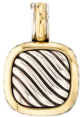 David Yurman Carved Cable Albion Enhancer Pendant