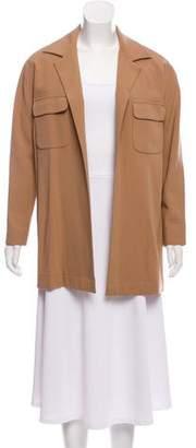 Max Mara Wool Open Front Jacket
