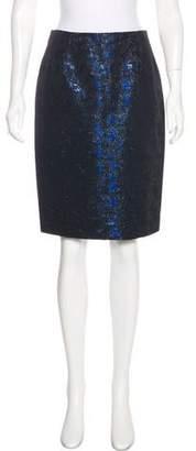 Carmen Marc Valvo Metallic Knee-Length Skirt w/ Tags