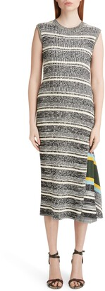 Victoria Beckham Stripe Asymmetrical Sweater Dress