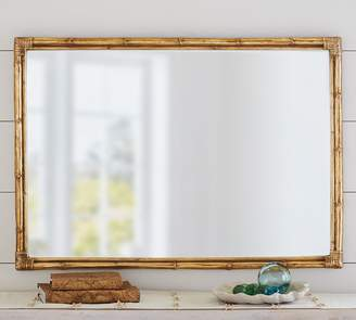 Pottery Barn Bamboo Gold Accent Mirror
