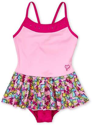 Jo-Jo Jojo Siwa (Girls 4-6x) Bows Skirted One-Piece Swimsuit