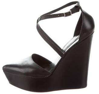Theyskens' Theory Leather Platform Wedges