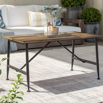 Gracie Oaks Cabarley Outdoor Wood Coffee Table