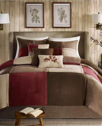 Madison Park Jackson Blocks Faux Suede 7-Pc. Queen Comforter Set Bedding