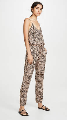 Enza Costa Linen Strappy Jumpsuit