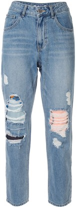 Sjyp ripped mom fit jeans