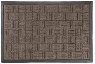 Lavish Home Indoor/Outdoor Nonslip Rubber Door/Welcome Mat, Parquet Design