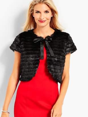 Talbots Faux-Fur Dress Shrug