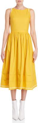 Philosophy di Lorenzo Serafini Yellow Cotton Midi Dress