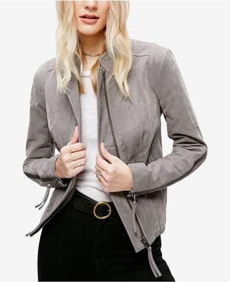 Free People Faux-Leather Moto Jacket $198 thestylecure.com