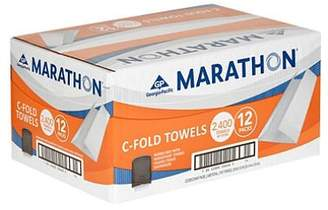 Marathon Commercial White C-fold Paper Towels Case 2