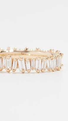 Suzanne Kalan 18k Gold Diamond Baguette Ring