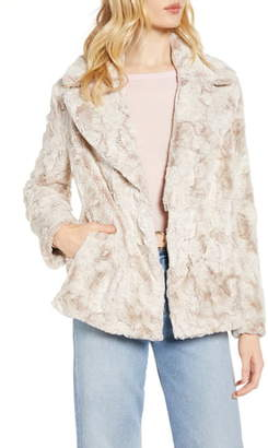Halogen Textured Faux Fur Coat