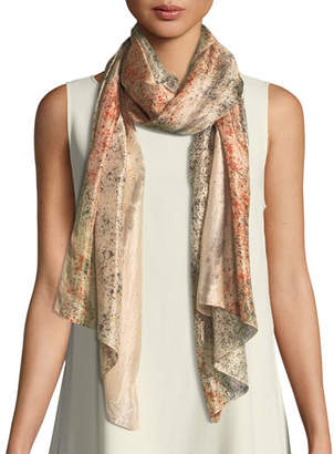 Eileen Fisher Sprinkle-Dyed Silk Scarf