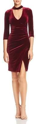 BCBGMAXAZRIA Choker-Neck Velvet Dress