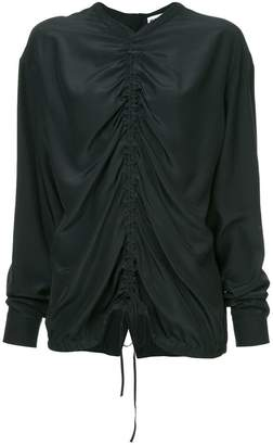 Jil Sander ruched detail blouse