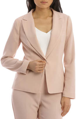 Textured Crepe Single Button Jacket