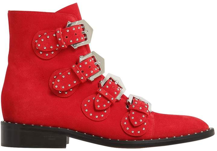 20mm Prue Studded Suede Ankle Boots