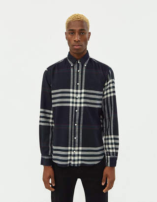 Gitman Brothers Big Check Flannel Shirt in Red/Blue/Green