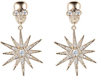 Eye Candy Los Angeles Cz Stars & Skulls Drop Earrings