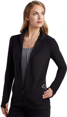 Cuddl Duds Women's Stretch Fleece Zip-Up Top