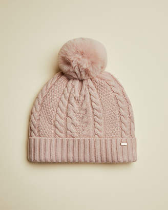 Ted Baker YNUTA Cable knit pom hat