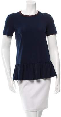 Opening Ceremony Ruffle-Trimmed Short Sleeve Top