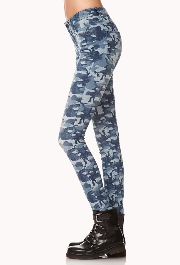 Forever 21 Desert Darling Camo Skinny Jeans