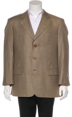 Valentino Houndstooth Wool & Silk Blazer