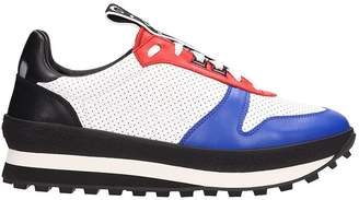 Givenchy White-multi Fabric And Leather Tr3 Runner Sneakers