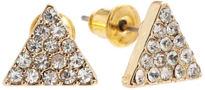 Lauren Conrad triangle stud earrings