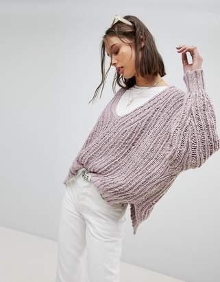 Free People Oversized Open Knit Jumper