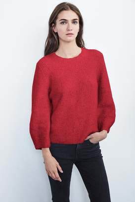 Velvet by Graham & Spencer JERRI PLUSH BOUCLE CREW NECK SWEATER