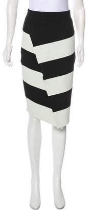 A.L.C. Striped Bodycon Skirt