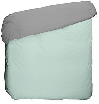 Camilla And Marc Play Basic Collection Duvet Cover, algodón-poliéster, Grey and Green Glacier, 220 x 180 x 3 cm