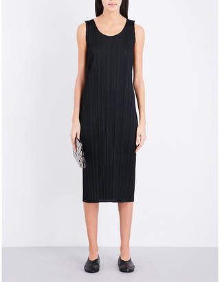 Pleats Please Issey Miyake Sleeveless pleated midi dress