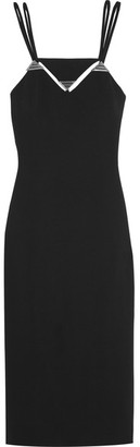 Mugler - Embellished Stretch-crepe Midi Dress - Black $2,060 thestylecure.com
