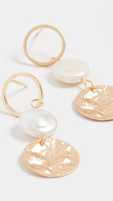 Jules Smith Designs Pearl Disc Drop Earrings