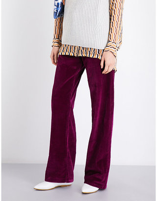 Dries Van Noten Picabo wide-leg corduroy trousers