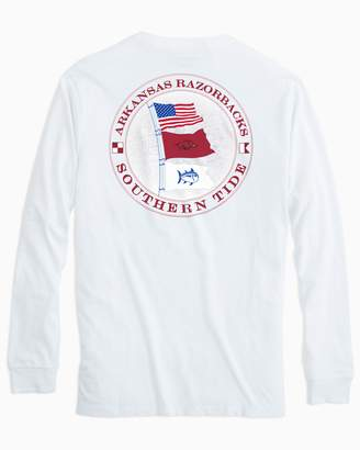 Southern Tide Gameday Nautical Flags Long Sleeve T-shirt - University of Arkansas