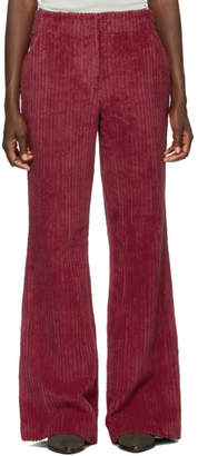 Acne Studios Pink Thick Corduroy Flared Trousers