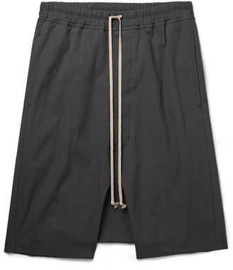 Rick Owens Pod Stretch-cotton Drawstring Shorts - Gray