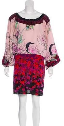 Just Cavalli Floral Silk Dress